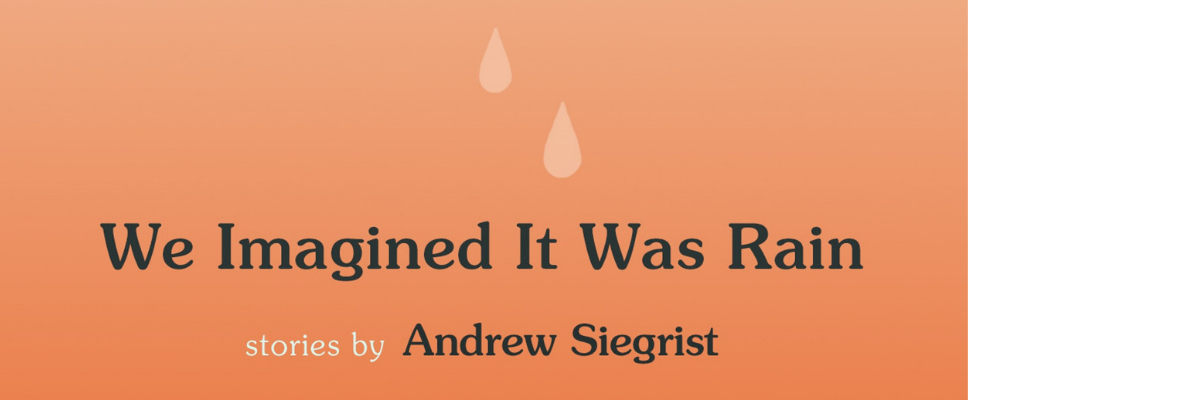 Virtual Publication Party for Andrew Siegrist   We Imagined It Was Rain