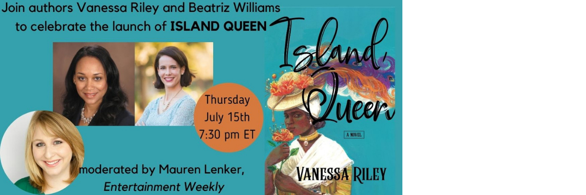 Virtual Book Launch with Vanessa Riley | Island Queen