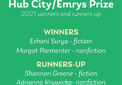 Hub City/Emrys Prize 2021 winners announced