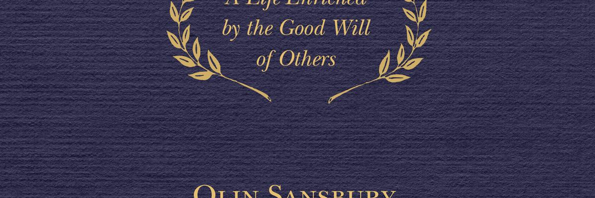 An Evening with Olin Sansbury | Joint Ventures: A Life Enriched by the Good Will of Other